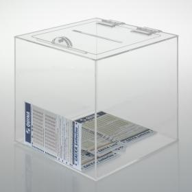 Urna Quadrada - 20 x 20 x 20 cm - Cristal