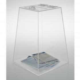 Urna Pirâmide - 20 x 30 x 20 cm - Cristal