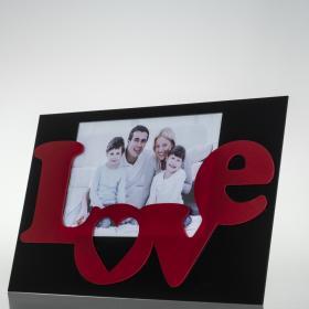 Porta Retrato Love - Preto - 30 x 20 x 1,5 cm