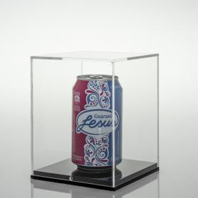 Expositor para latas colecionáveis - 12,5 x 12,5 x 16 cm - Preto