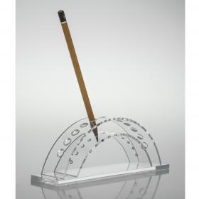Porta Lápis ou Canetas - 20 x 5 x 8 cm - Cristal