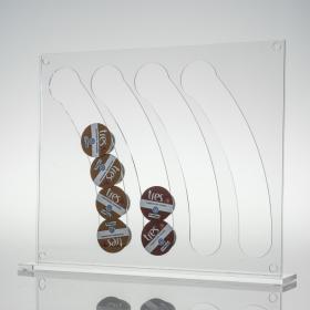 Porta Capsulas de Café Três - 40 Cristal