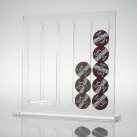 Porta Capsulas de Café Três - 50 Cristal