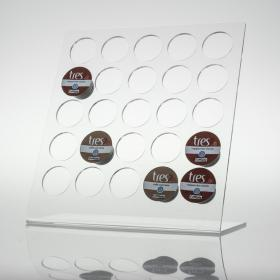 Porta Capsulas de Café Três - 25 Cristal