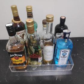 Bandeja para bebidas Verona, acrílico transparente medidas 35x25x7 centímetros