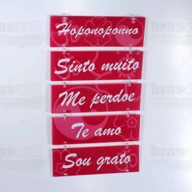 Placa Decorativa Motivacional - 22 x 35 cm - Rosa