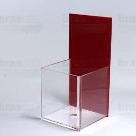 Porta Squeeze ou Álcool Gel - 10 x 22 x 10 cm - Vermelho