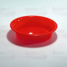 Pote de Ração Vermelho 16cm de diâmetro x 4cm de profundidade